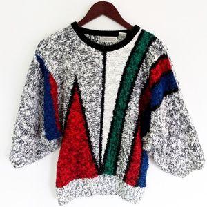 Vintage Color Block Sweater